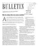 World Bank Policy Research Bulletin