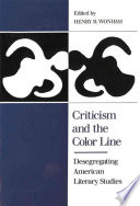 Criticism and the Color Line