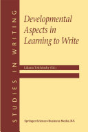 Pdf Developmental Aspects in Learning to Write Telecharger