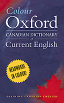 Colour Oxford Canadian Dictionary of Current English Book