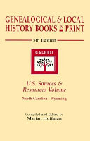 Genealogical & Local History Books in Print Volume N-W