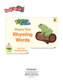 Rhyming Words--Rhyme Time Literacy Center