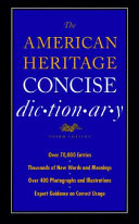 The American Heritage Concise Dictionary