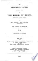Sessional Papers Printed By Order Of The House Of Lords Or Presented By Royal Command In The Session 40 50 Victori 26th January 22d June And The Session 50 Victori 19th August 7th October 1841 Arranged In Volumes Reports And Evidence