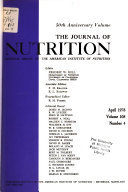 The Journal of Nutrition Book