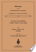 Time Pattern of Ionizing Radiation in Balloon Altitudes in High Latitudes Book