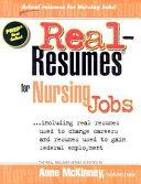 Real Resumes for Nursing Jobs