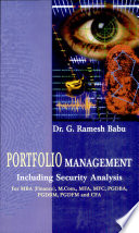 Portfolio Management  including Security Analysis