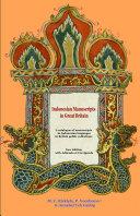Pdf Indonesian Manuscripts in Great Britain Telecharger
