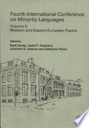 Fourth International Conference on Minority Languages: Western and Eastern European papers
