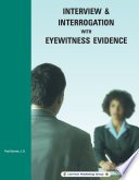 Interview   Interrogation with Eyewitness Evidence Book