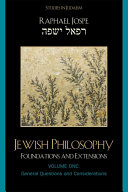 Jewish Philosophy  General questions and considerations