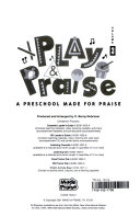 Play and Praise Volume 3 Activity Book