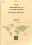 IFLA Principles for the Care and Handling of Library Material
