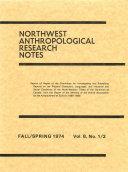 Northwest Anthropological Research Notes Pdf/ePub eBook