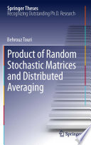 Product of Random Stochastic Matrices and Distributed Averaging Book