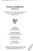Positron Annihilation
