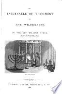 The tabernacle of testimony in the wilderness Book