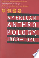 American Anthropology 1888 1920