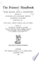 The Printers  Handbook of Trade Recipes Book