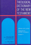 Theological Dictionary of the New Testament, Volume III ebook