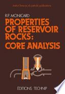 Properties of Reservoir Rocks  Core Analysis Book