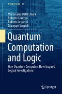 Quantum Computation and Logic