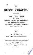 Die teutschen Volksbücher