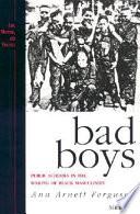 Bad boys : public schools in the making of black masculinity