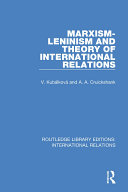 Pdf Marxism-Leninism and the Theory of International Relations Telecharger
