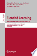 Blended Learning  New Challenges and Innovative Practices