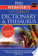 Webster's Student Dictionary & Thesaurus