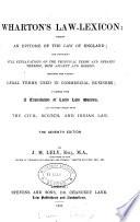 Wharton's Law-lexicon