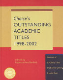 Choice s Outstanding Academic Titles  1998 2002