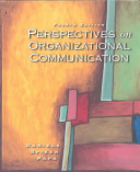 Cover of Perspectives on Organizational Communication