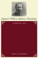 Pdf James's Will-To-Believe Doctrine