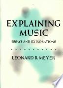 Explaining Music