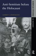 Anti-Semitism before the Holocaust Pdf/ePub eBook