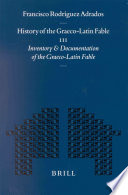 History of the Graeco Latin Fable