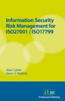 Information Security Risk Management For Iso27001 Iso17799 Book PDF