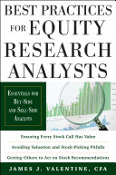 Pdf Best Practices for Equity Research Analysts: Essentials for Buy-Side and Sell-Side Analysts Telecharger