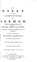 An Essay on the Composition of a Sermon ebook