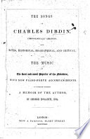 The Songs Of Charles Dibdin PDF