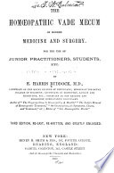 The Homoeopathic vade mecum of modern medicine and surgery