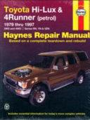 Toyota Hi Lux   4Runner Automotive Repair Manual