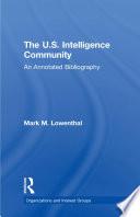 The U S  Intelligence Community