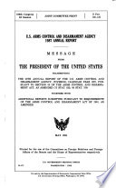U S  Arms Control and Disarmament Agency     Annual Report