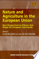 Nature and Agriculture in the European Union Book
