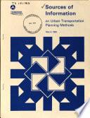Sources of Information on Urban Transportation Planning Methods Book