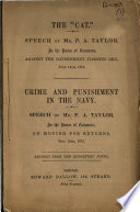 The    Cat     Speech by Mr  P  A  Taylor  in the House of Commons  Against the Government Flogging Bill  June 14th  1875 Book